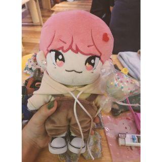Set áo hoodie yếm cho doll 15cm, 20cm