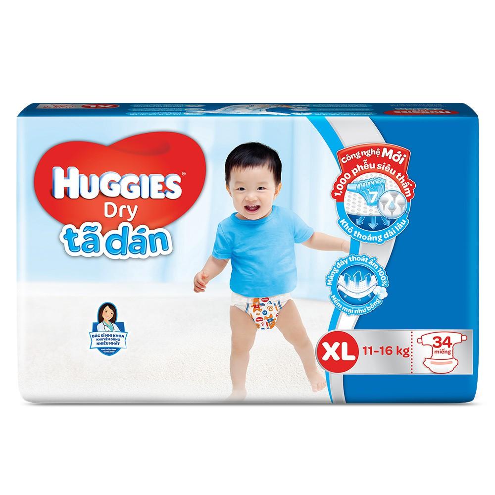 Tã dán Huggies Size XL 34 Miếng (Cho trẻ 11 đến 16Kg) - 3103687 , 800226758 , 322_800226758 , 148000 , Ta-dan-Huggies-Size-XL-34-Mieng-Cho-tre-11-den-16Kg-322_800226758 , shopee.vn , Tã dán Huggies Size XL 34 Miếng (Cho trẻ 11 đến 16Kg)