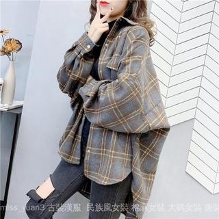 Áo khoác tay dài kẻ sọc thời trang thu đông cho nữ