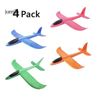 JUL 4Pcs Manual Throwing Glider Aircraft Plane Model Outdoor Sports Flying Kids Toy