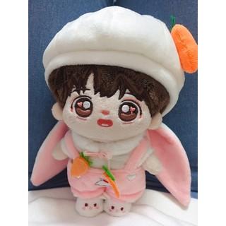 [Có sẵn] Outfit thỏ tai cụp cho doll 15cm