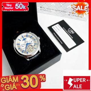 [QUÀ TẶNG] Đồng hồ nam - Đồng Hồ Cơ Dây Da Máy Chuẩn Chất Liệu Cao Cấp Chống Nước Chống Xước A77HZ- 1199 Watches