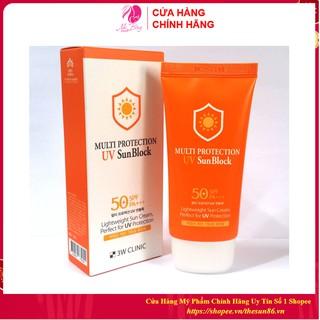 [Hàng Nhập Khẩu] Kem chống nắng Multi Protection Uv Sun Block 3W Clinic Hàn Quốc 70ml [Chính Hãng Hàn Quốc]