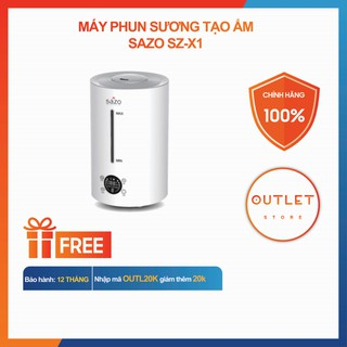 Máy Phun Sương Tạo Ẩm SZ-X1, ion âm diệt khuẩn khử mùi, dung tích 4 lít dùng cho phòng ngủ phòng khách diện tích lớn