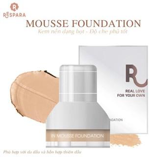 Kem Nền Dạng Bọt RESPARA Mousse Foundation SPF50 PA