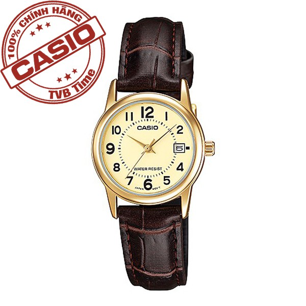 Đồng hồ nữ dây da Casio Standard Anh Khuê LTP-V002GL-9BUDF - 14645300 , 710852282 , 322_710852282 , 729000 , Dong-ho-nu-day-da-Casio-Standard-Anh-Khue-LTP-V002GL-9BUDF-322_710852282 , shopee.vn , Đồng hồ nữ dây da Casio Standard Anh Khuê LTP-V002GL-9BUDF