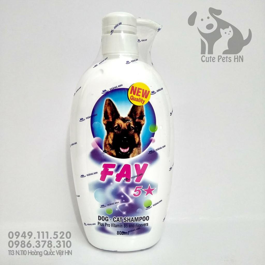 Sữa tắm Fay 5 Sao 800ml Dành cho chó mèo - CutePets Phụ kiện thú cưng Pet shop Hà Nội