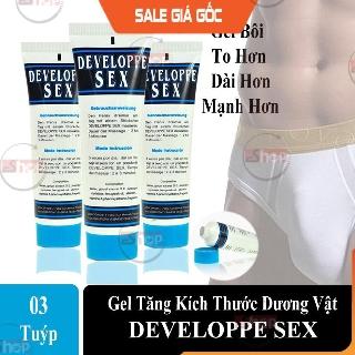 [Hàng PHÁP] Combo 3 Gel Tăng Kích Thước Dương Vật DEVELOPPE SEX – Tăng 3-5 Cm Chỉ Sau 1 Liệu Trình, An Toàn và Hiệu Quả.
