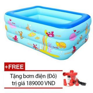 Bể bơi 1m3 cho bé yêu tặng kèm bơm