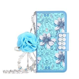 Bao da điện thoại dạng túi xách phối hoa thời trang cho iPhone 5 6 6S 7 8 plus X