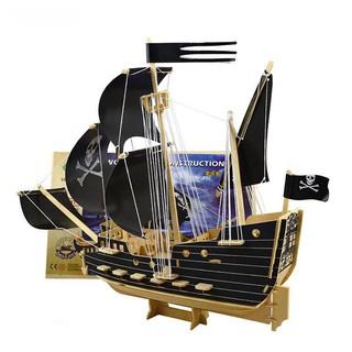 mô hinh gỗ thuyền cướp biển 3 sọc