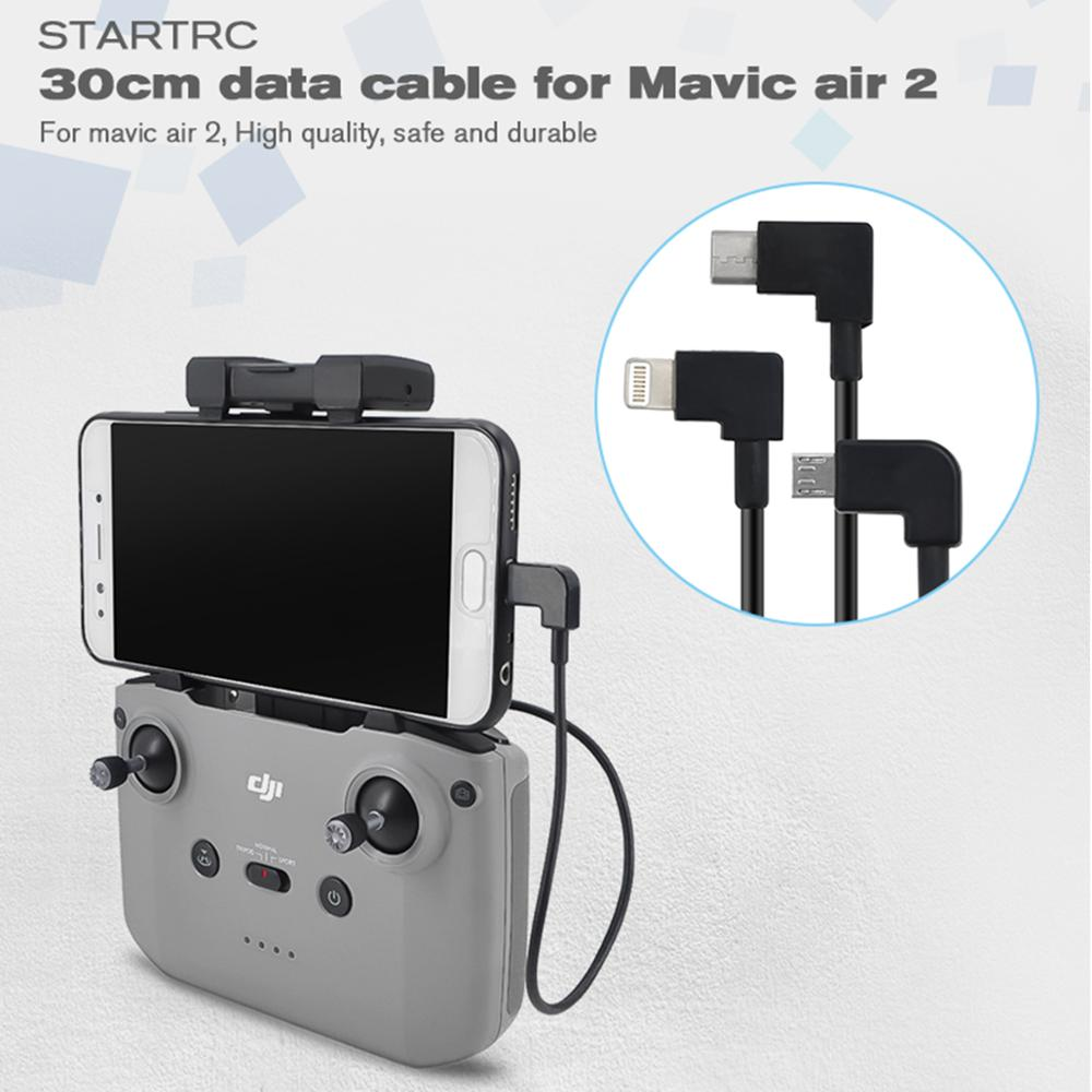 STARTRC Mavic Air 2 Control Micro USB Type-c IOS Android OTG Data Cable 30CM For DJI Mavic Air 2 Tablet Holder Data Cable Parts