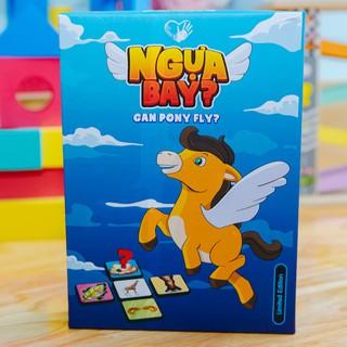 Ngựa Bay Can Pony Fly – Bộ đồ chơi thẻ động vật song ngữ giúp phát triển toàn diện về kiến thức về động vật cho bé
