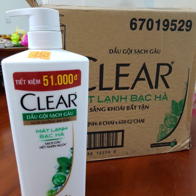 CLEAR BẠC HÀ 650G - 3507019 , 1252233555 , 322_1252233555 , 118000 , CLEAR-BAC-HA-650G-322_1252233555 , shopee.vn , CLEAR BẠC HÀ 650G