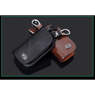 Móc treo chìa khóa, túi da đựng chìa khóa gắn logo các hãng ô tô Mazda, Ford, Lexus,Kia,Land Rover, Audi thumbnail