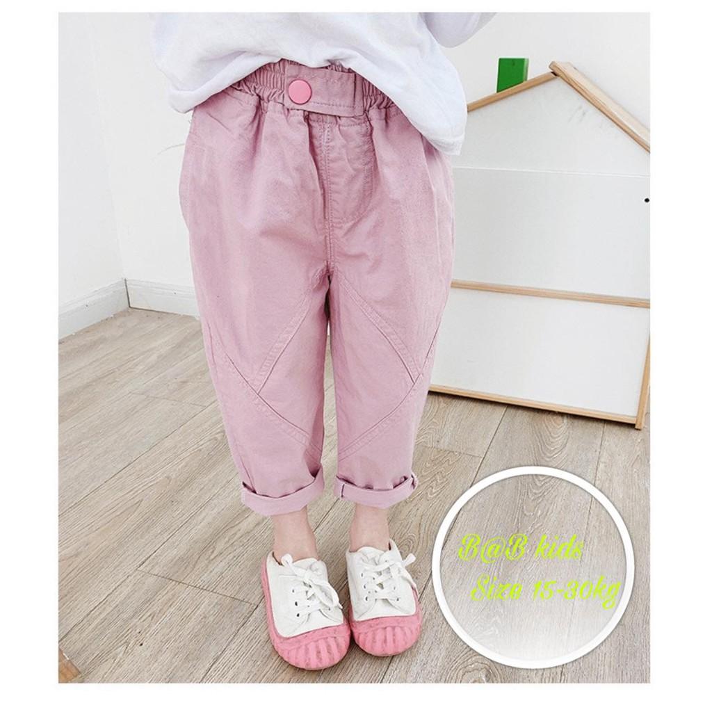 [ Mã FAMANU07 giảm 10% đơn 0đ ] ( Size 12- 32kg) Quần kaki dài siêu mềm mát,co giãn 4 chiều bé gái (Hàng đẹp)