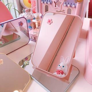 Gương trang điểm để bàn hình chữ nhật ngọt ngào _màu ngẫu nhiên