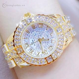 Đồng hồ nữ BS BEE SISTER EBILA Đính đá siêu đẹp + Tặng Hộp & Pin thumbnail