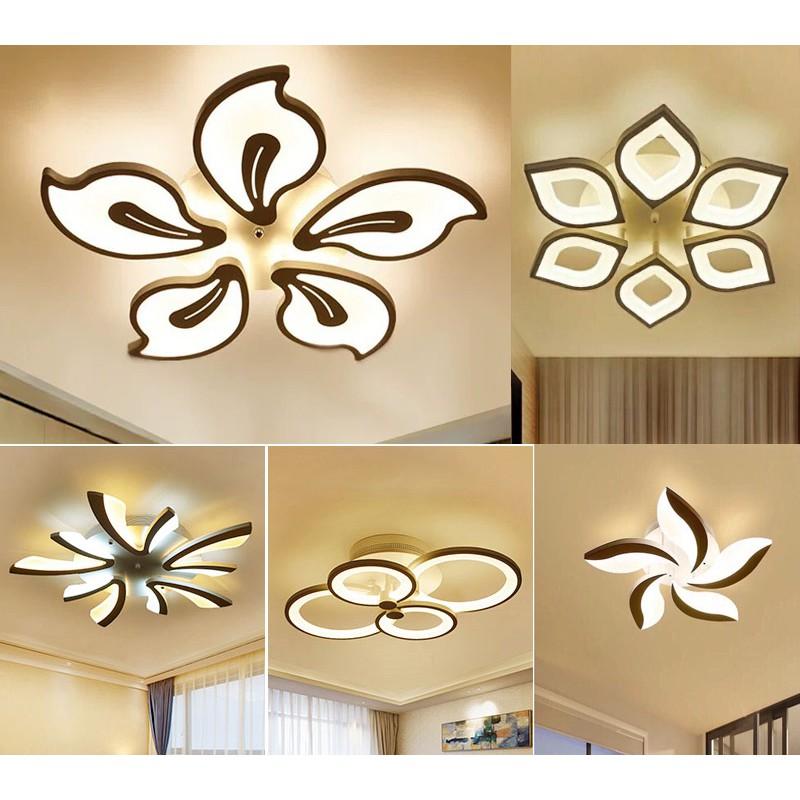 Đèn trần trang trí phòng khách phòng ngủ có kèm điều khiển từ xa phân tầng 3 chế độ sáng