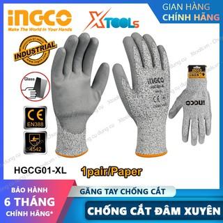 Găng tay bảo hộ lao động INGCO bao tay bảo hộ đa năng chống cắt, mài mòn, trơn trượt, đâm xuyên, xé rách chuẩn EN388