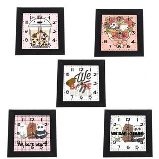 Đồng hồ treo tường ba anh em gấu dạng khung ảnh 13x13 cm DHTI1 đồng hồ cute dễ thương