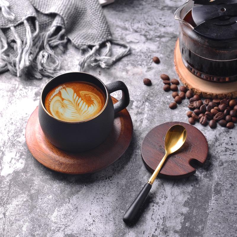 bộ cốc uống cà phê, trà, trà bằng thép không gỉ màu đỏ sang