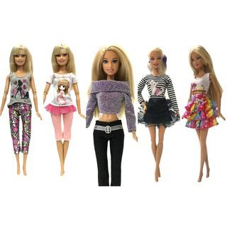 Váy, quần áo thời trang cho búp bê Barbie hoặc các loại búp bê tương tự cao 28-30cm