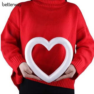 ☀1/10Pcs Women Hollow Heart Foam Modelling DIY Craft