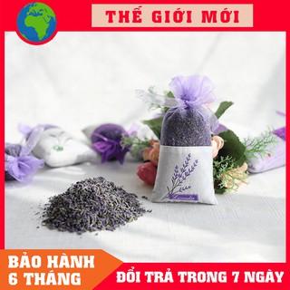 Túi thơm nụ hoa khô Lavender cao cấp, dùng treo xe ô tô, tủ quần áo, góc làm việc, phòng ngủ