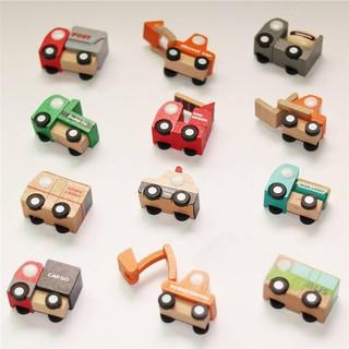 Tet mô hình đồ chơi 12 xe gỗ Nhật