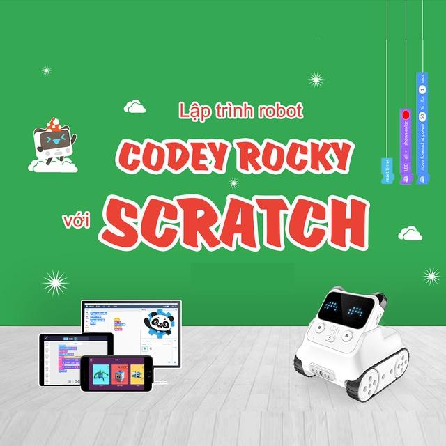 """Toàn Quốc [E-Voucher] - VIETSTEM - Khóa học """"Lập trình điều khiển robot Codey Rocky"""""""