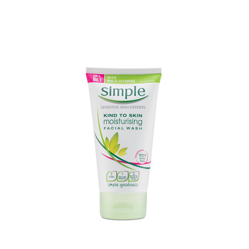 Sữa rửa mặt Simple Kind To Skin Moisturising