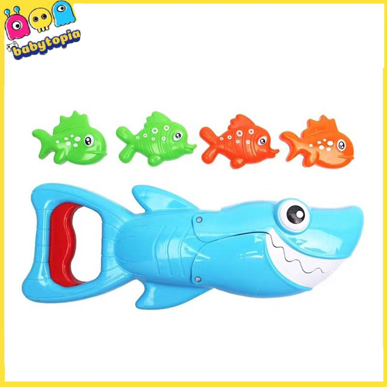 Shark Hunting Big Fish Caught Small Fish Children Bath Toys Bathroom Swimming Pool Playing In The Water