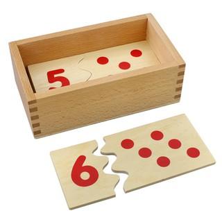 Đồ Chơi Gỗ Thông Minh,Hộp Ghép Hình Học Đếm Theo Phương Pháp Montessori
