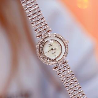 [CÓ VIDEO - ẢNH THẬT] Đồng hồ nữ Bee Sister FA1552 dây thép cao cấp mặt tròn đính đá thumbnail