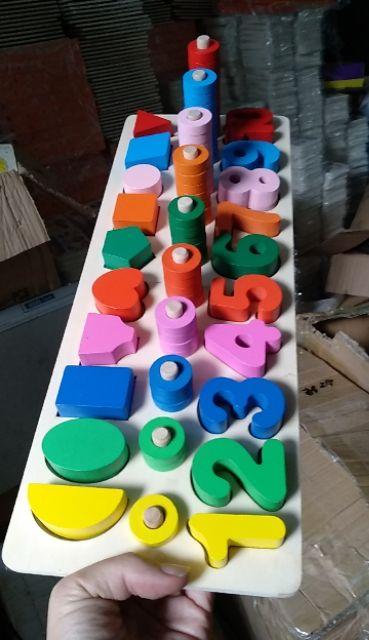 Bộ cọc toán - hình khối màu sắc