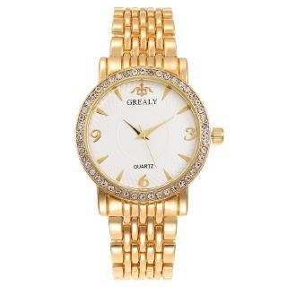 Đồng hồ đeo tay nữ kinh doanh thép kim cương đồng hồ nam cao cấp thời trang nữ thạch anh phù hợp với cặp đôi