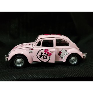 Xe mô hình Volkswagen Beetle Hello Kitty 1:36