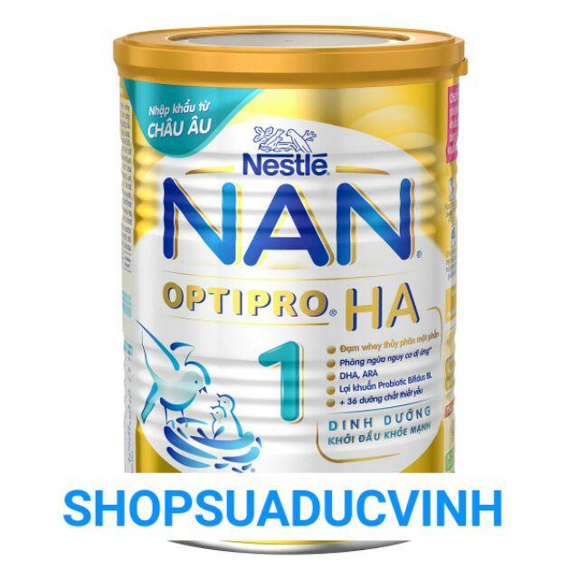 (TKB1206 giảm 3% đến 20k) Sữa bột Nestle NAN HA 1 400g date 04,05/2019