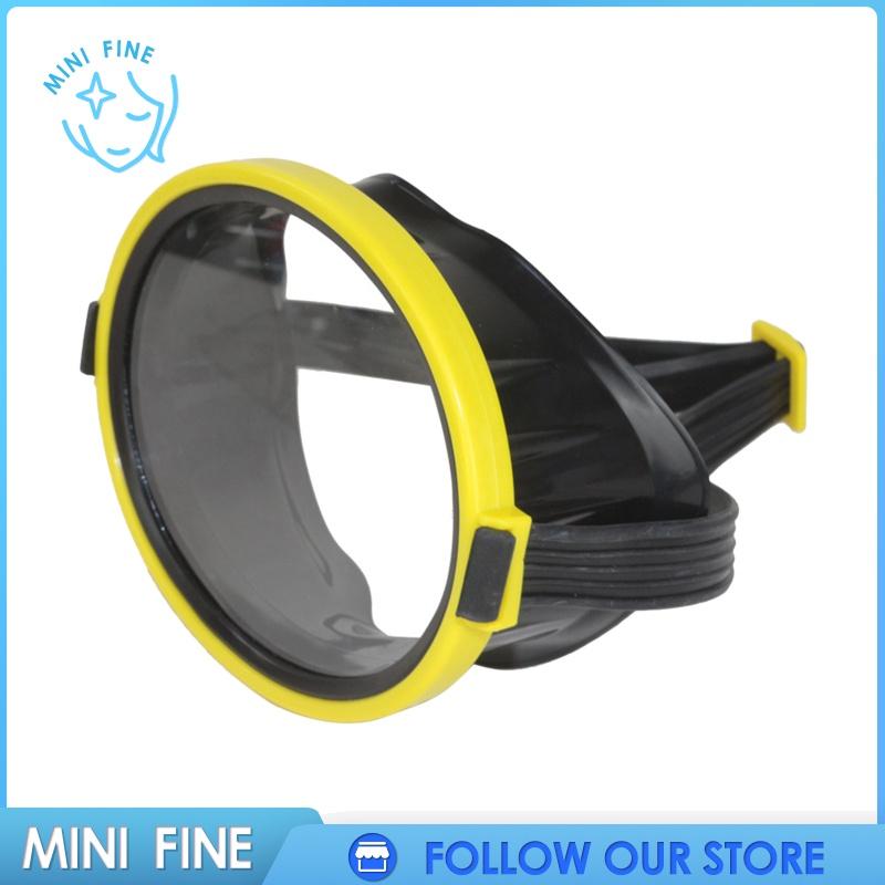【mini fine】 Retro Oval Classic Single Lens Snorkel Silicone Dive Mask, 14.5x11.5cm
