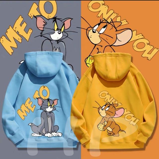 Áo hoodie mèo chuột ME TO THG876
