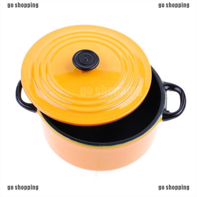 {go shopping}34*17mm 1:12 dollhouse miniature kitchen cooking ware pot boiler pan toy