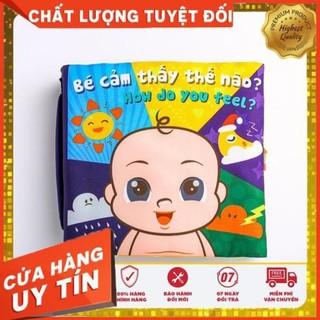 Sách Vải Bé Cảm Thấy Thế Nào? – đồ chơi vải cho bé – Đồ chơi sạch Fiotoys