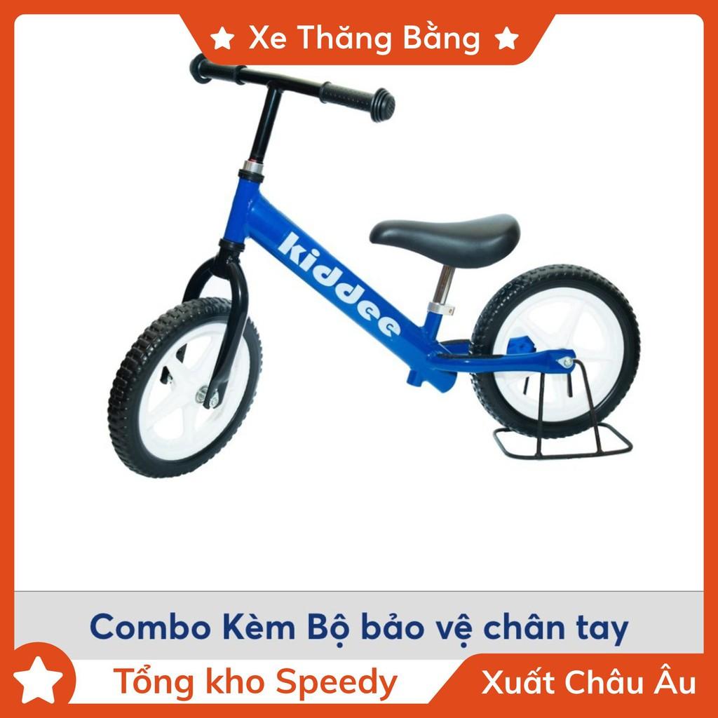 Combo Xe thăng bằng Kiddee + Bộ bảo vệ chân tay - Đồ chơi vận động cao cấp cho bé
