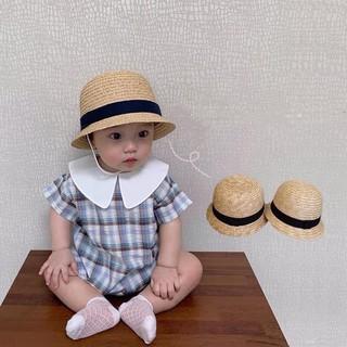 [Mã FASHIONGREEN44 giảm 10K đơn 50K] Mũ cói vành ngắn hàng loại 1 cho bé