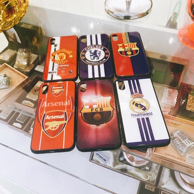 Ốp lưng iPhone X mặt lưng kính bóng đá