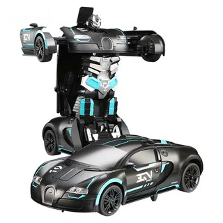 Xe điều khiển từ xa HDY đồ chơi biến hình thành người máy dành cho bé