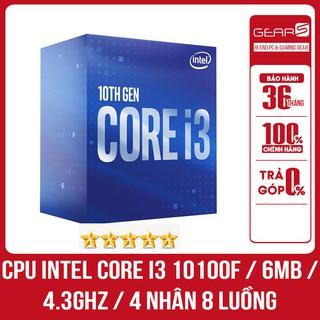 CPU Intel Core i3 10100F / 6MB / 4.3GHZ / 4 nhân 8 luồng – Bảo hành 36 Tháng Full box nhập khẩu