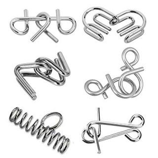 BỘ ĐỒ CHƠI GIẢI MÃ MÓC NHẬT BẢN – Metal Puzzle
