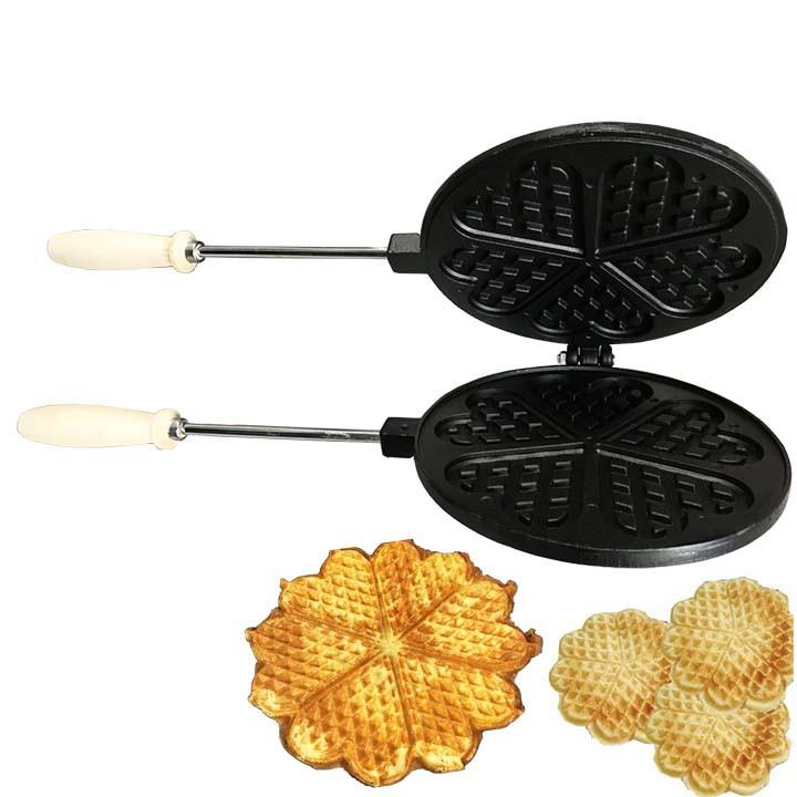Khuôn nướng bánh kẹp tàn ong gang chống dính